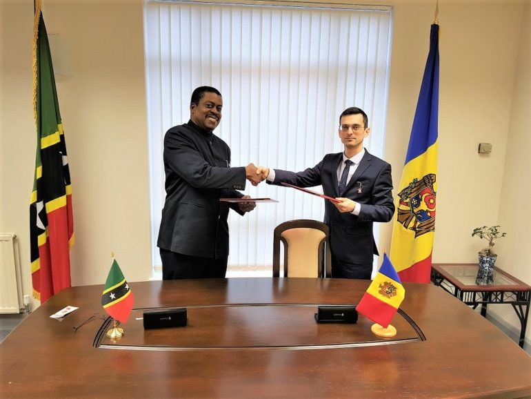 GOVERNMENTS OF ST. KITTS AND NEVIS AND REPUBLIC OF MOLDOVA SIGN JOINT VISA WAIVER AGREEMENT